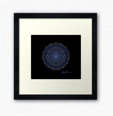 Mandala Colour Therapy Wall Art BrightNightLight WA1002