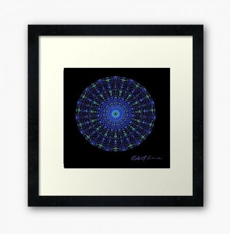 Mandala Colour Therapy Wall Art BrightNightLight WA1004